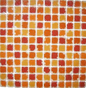 Art of Bath Mosaic SDG068 12 in. x 12 in. Floor Tiles Red, Orange, Red-Orange in Glass (Sold by Boxes, 11pcs/Box)