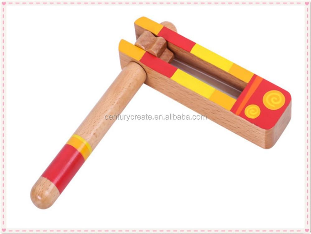 Мультфильм Деревянная спина шума игрушки из дерева для погремушка болтушка