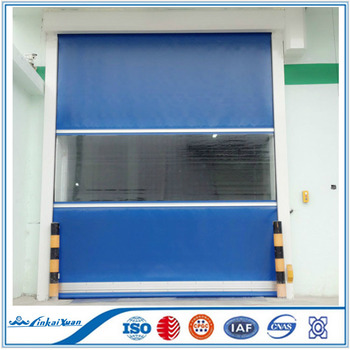 Automatic PVC fast rapid rolling shutter door with the SEW motor high speed roll up door
