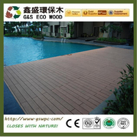 140X25MM WPC Wood Plastic Composite Outdoor Decking Floor Tile , Good Quality Home Garden wpc Timber Decking/board/waterproof