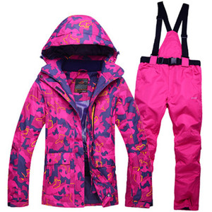 e0d8042a8f colorful Cheaper Snow costumes Women Ski suit set snowboarding Clothes  waterproof   windproof winter -30