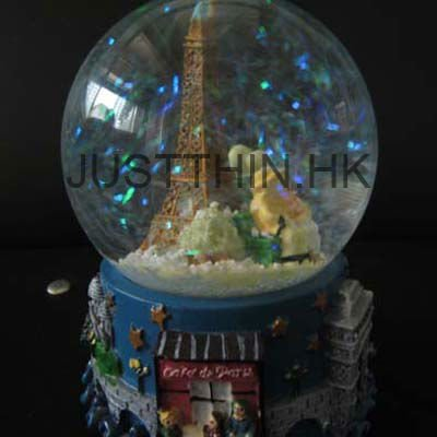 Custom made Artistic Resin Crafts / Decoration / Gift Snow Globe FZ-RC-1118