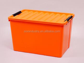 Great 120L Orange Plastic Storage Box