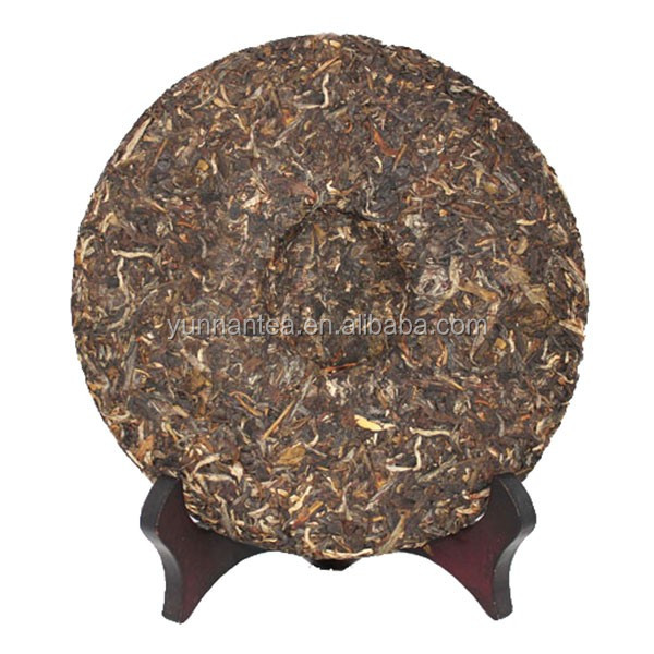 from Bulang Mountain 2007yr yunnan unfermented compressed puerh tea 357g