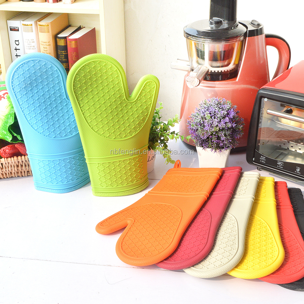 Best heat resistant slicone bbq grill oven gloves and barbecue mitts for cooking baking