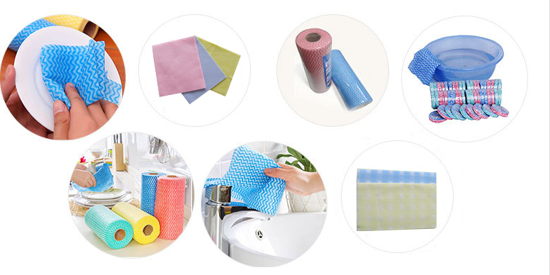 Household Cleaning Product Spunlace Nonwoven Fabric Cleanroom Wipe Paper