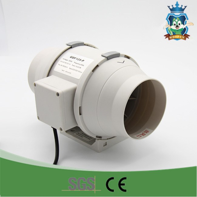 Mini exhaust centrifugal radiator motor condenser air cooling in line duct fan