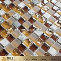 fashion marble and glass mosaic tile