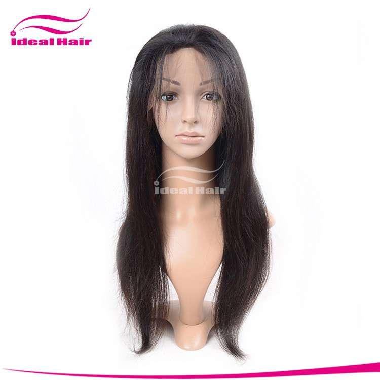 100% Indian remy human hair lace wigs full lace wig in stock