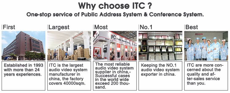 ITC TS-12H 350W 8 ohm Conference Room 12 inch Speaker Box Sound System