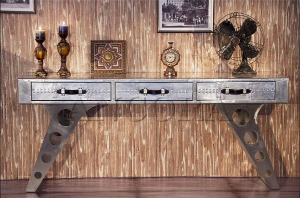 Aviator Stainless Steel Console Table ,tv Stand 1018