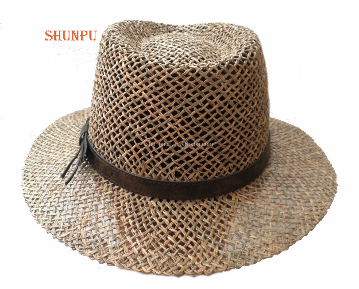Newest Summer Woven Seaweed Material Straw Hat For Men Buy Straw