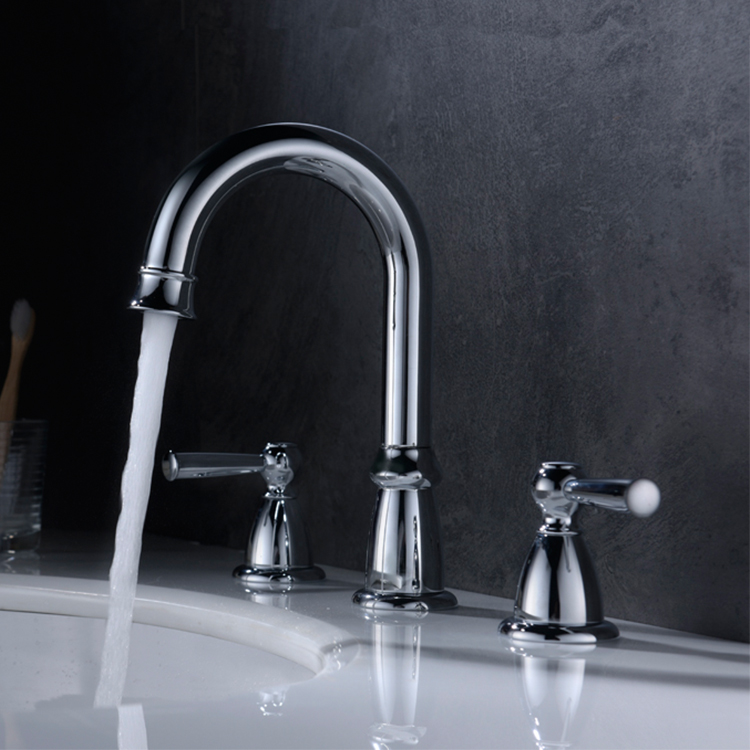 Cold and Hot Water Bathroom Tap Dual Handles Basin Sink Faucet bathroom