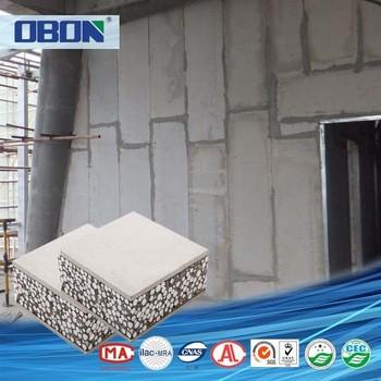 Obon Bathroom Respatex Waterproof Eps Cement Sandwich Wall Panels