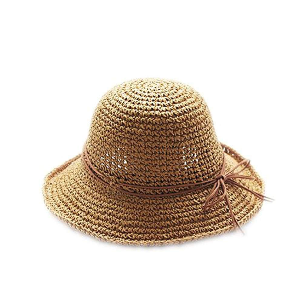 Get Quotations · ArryJing Summer Sun Straw Hat Wide Brim Foldable Summer Beach  Sun Straw Hats Fishing Hat For d7d0c8249489