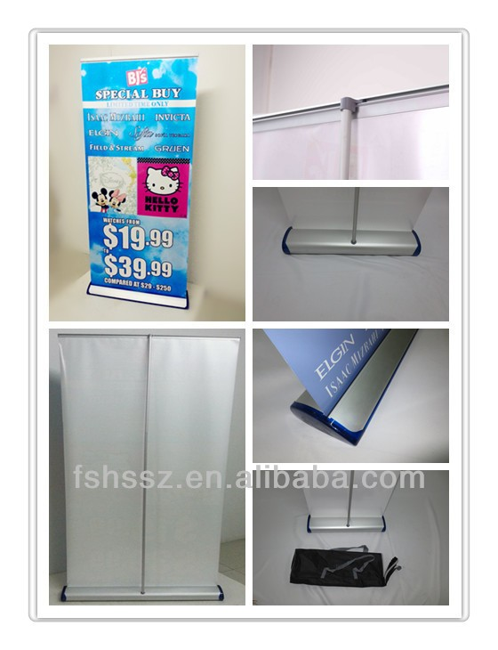 Roll up Display Outdoor Advertising Floor Standing Portable Banner Stand HS-KT01