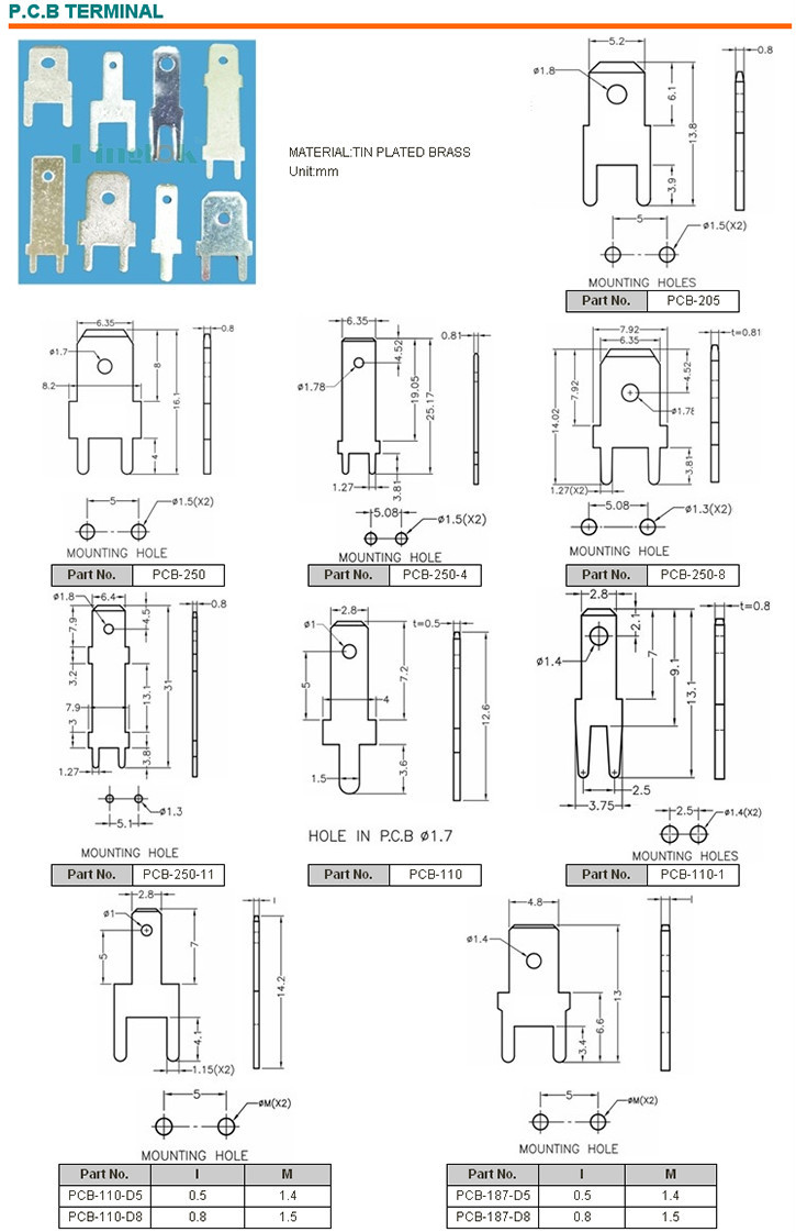 Non Insulated Ring Terminals Pcb Terminals Wire Ring