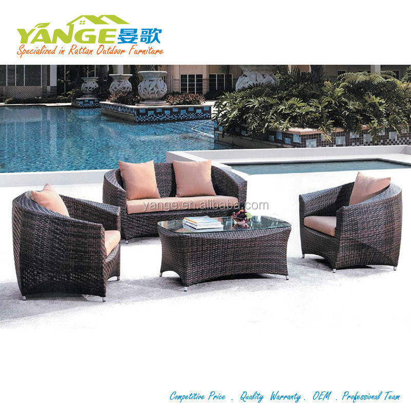 workmanship color mix rattan garden set table furniture