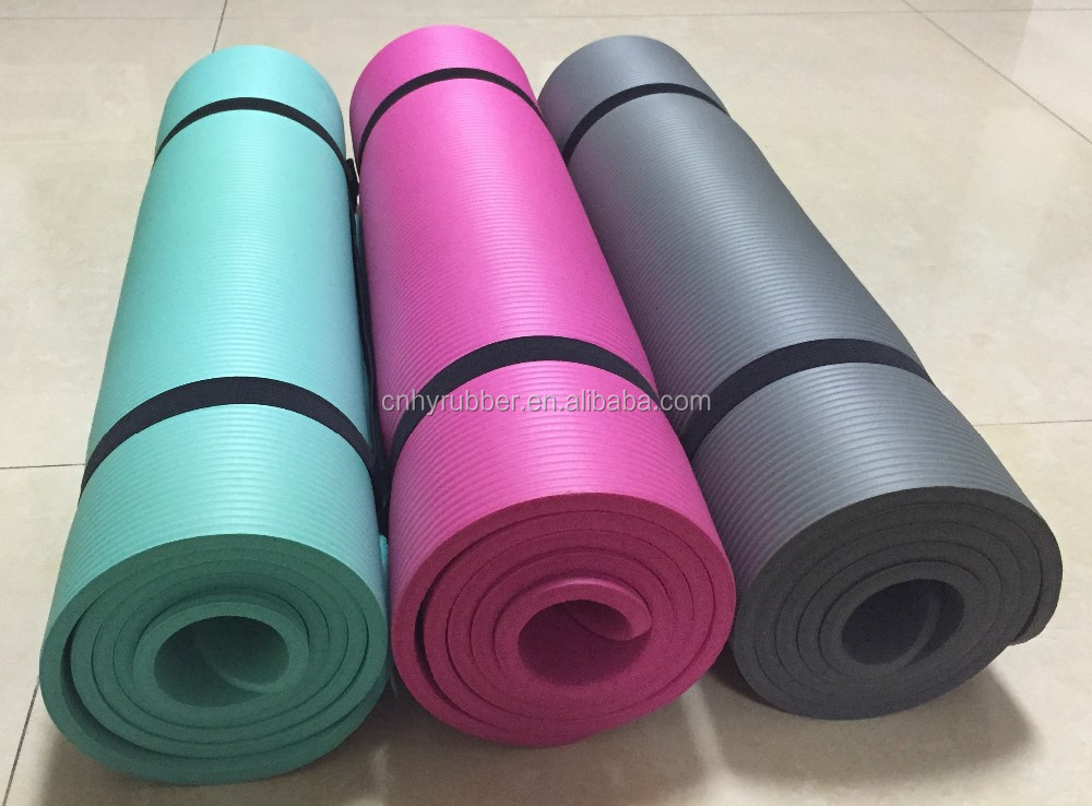 non-toxic NBR yoga exercise mat 10mm Home Gym