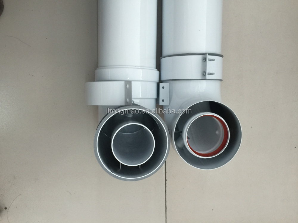 Double Wall Aluminum Coaxial Flue Pipe Horizontal Flue