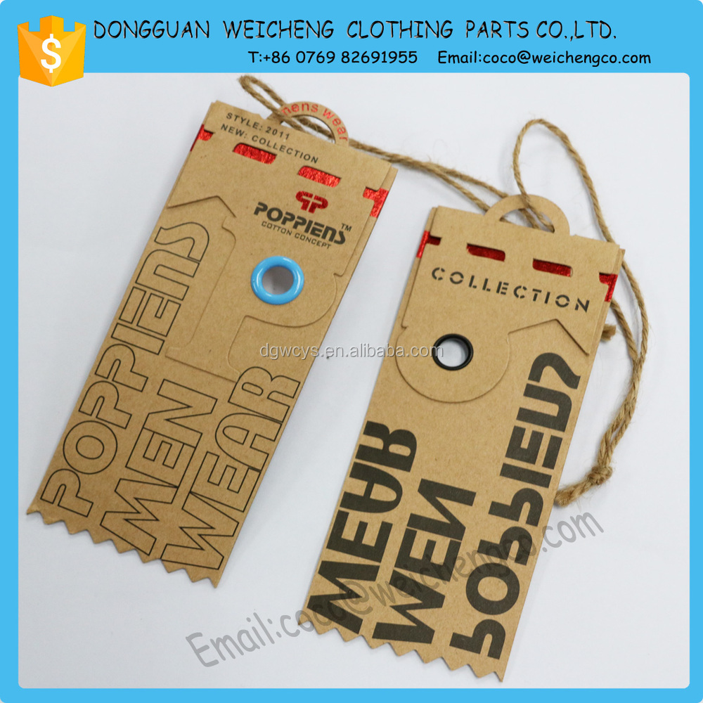 Brown Paper Hang Tags For Jeans/shoes/hat/garment Hang Tag String ...
