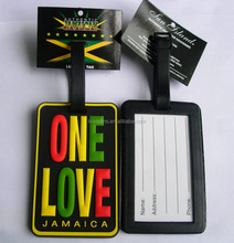 Soft PVC Material and Tag Type Custom Made PVC Luggage Tags With Personal Logo
