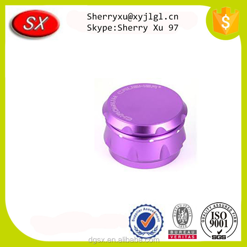 ISO passed factory custom high precision anodized zinc herb grinder