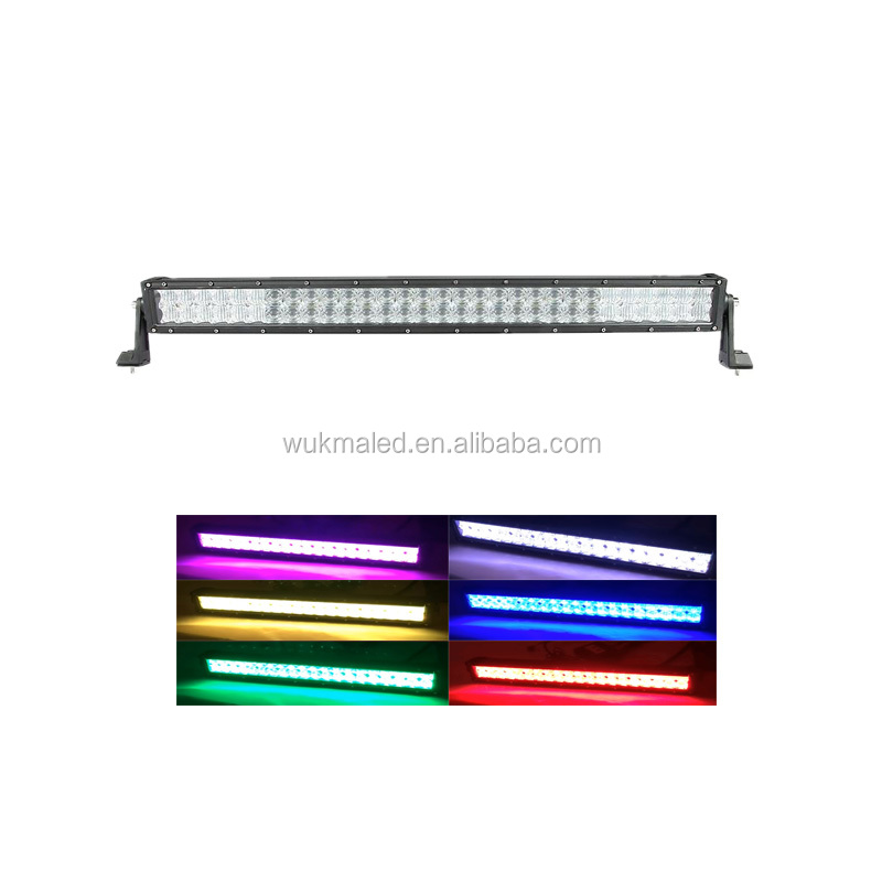 Bluetooth Controlled Color Changing Led Light Bar 42 inch 240W RGB Light bar SUV Multi Color By App Control