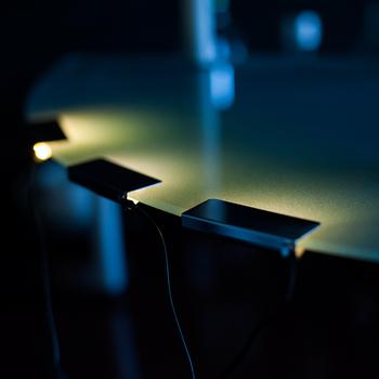 12v led verlichting glas rand glas sieraden weer te geven plank licht