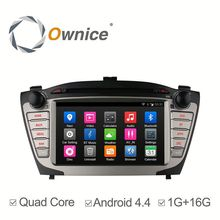 Capacitive screen Quad core Android 4.4 car dvd player for Hyundai ix35 2012 2013 with 1G RAM 16GB iNAND steering wheel