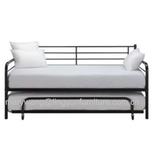Colorful modern black metal day bed