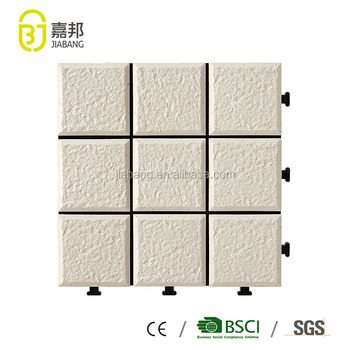 30x30cm non slip roofing glazed white ceramic interlocking flooring tile design in cheap price by Chinese manufacturing plant