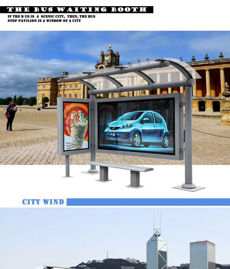 Outdoor Modern Bus Stop Shelter Kiosk Bus Kiosk Buy