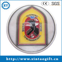Promotional stamp coin for business with custom logo