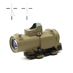 1-4X Cross Red Dot Illuminated scope with brightness Sensitive red electro dot sight