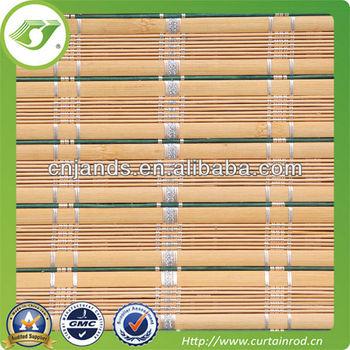Office Natural Bamboo Blinds Window Blind Tilt Mechanism