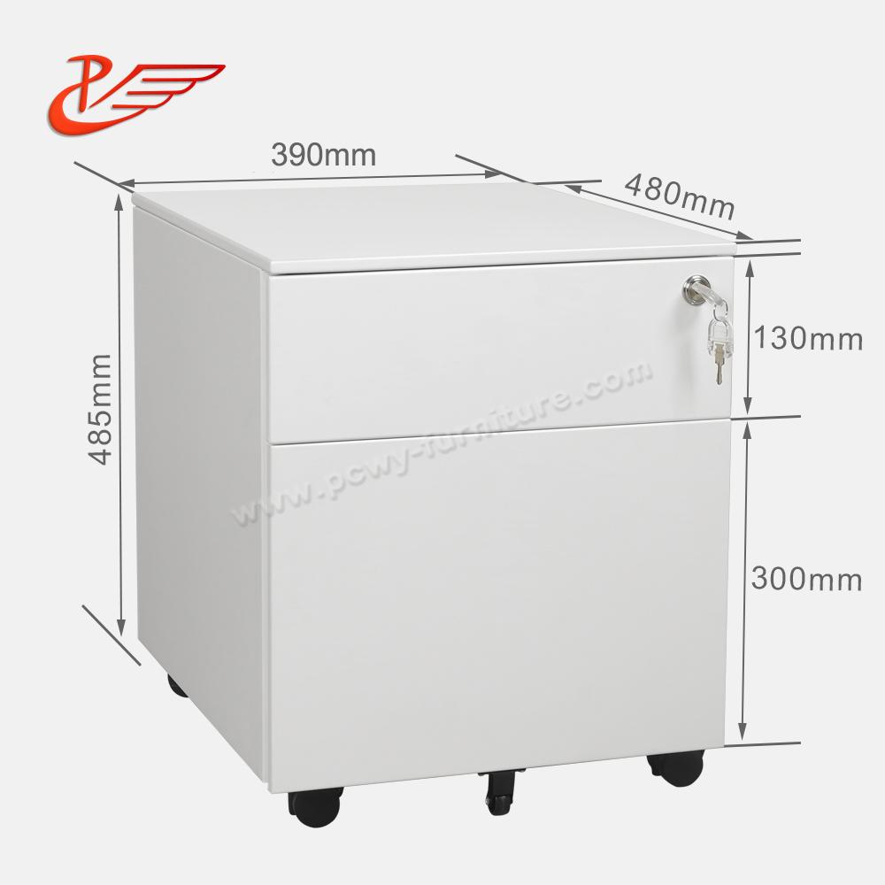 2 Drawer Mobile Pedestal File Cabinet