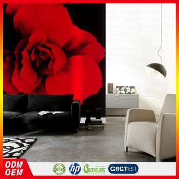 Rouge Rose Fleur Avec Dos Noir Artificia Conception Peinture Numerique Impression Peintures Murales Papier Peint Pour Hotel Projet Buy Artificielle