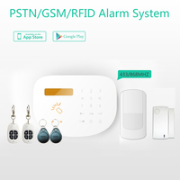 Top quality security GSM alarm system Android+IOS APP control smart home GSM/PSTN/RFID alarm system with socket