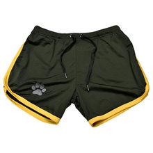 2019 летние из одноцветной сетчатой ткани, компрессионные быстросохнущие шорты, мужские спортивные штаны, спортивные тренажеры, мужские шорт...(Китай)