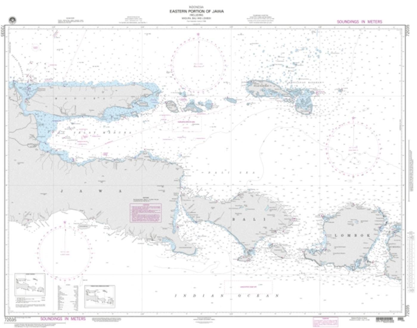 NGA Chart 72035-Eastern Portion Of Jawa