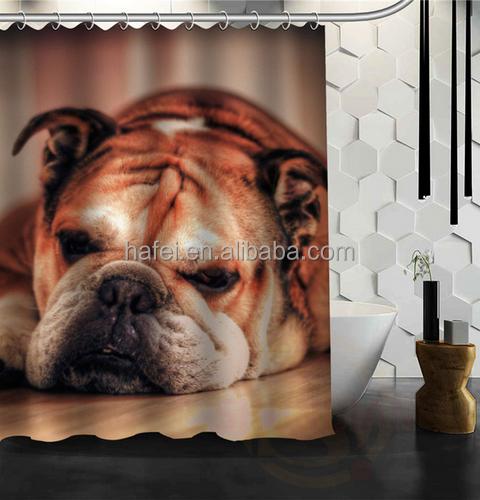Custom English Bulldog Multi Size Waterproof Shower Curtain