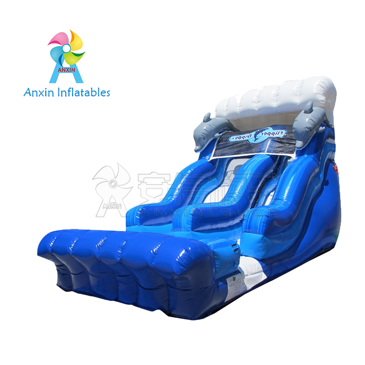 Large 18ft inflatable flipper dipper slide for adults and kids
