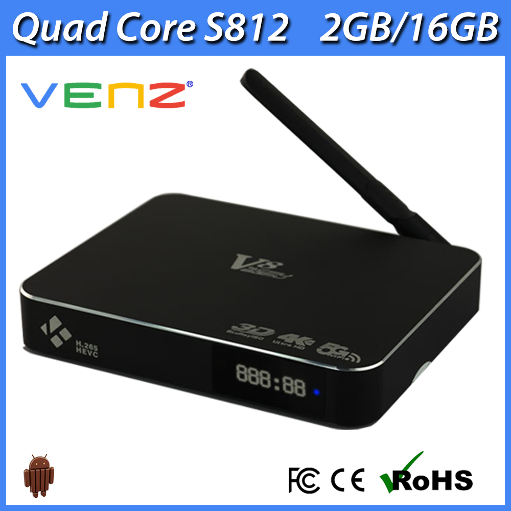 Wholesale Best Price for VENZ V8 <strong>Amlogic</strong> S812 4K quad core Android <strong>tv</strong> <strong>box</strong>