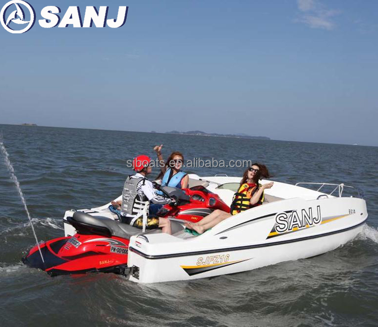 2017 New Fiberglass Water Jet Boat Waverunner Mate Sea Scooter 6 Person Ce  Approved - Buy Sea Scooter Passenger Boat,Jet Ski Powered Waverunner
