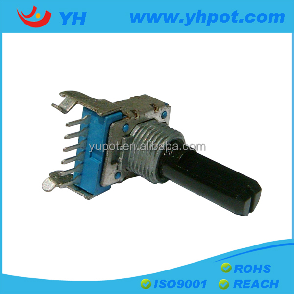 jiangsu 12mm volume control 6 pin rotary a20k lever potentiometer without switch