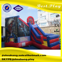 China Factory Spiderman Inflatable Combo Bouncer with Slide for Commercial Use