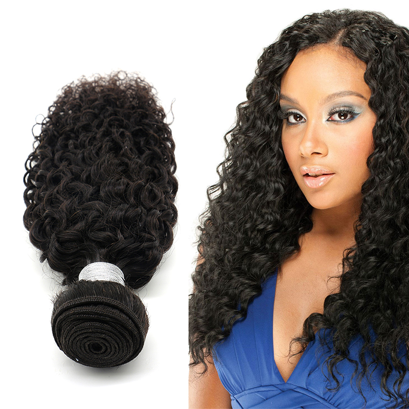No Synthetic Kinky Curly Afro Hair Weave Piece Brazilian Human Buy