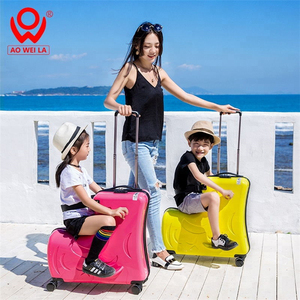 High Quality Travel Luggage Bags For Kids,Child Riding Carrier Luggage,Rideable Luggage For Kids