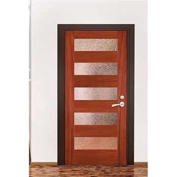 Wood Panel Door Design Mahogany Solid Wood Door Glass Insert Wood
